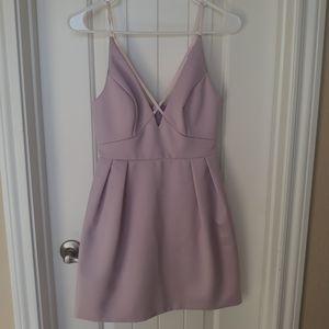 TopShop Soft Leather Feel Lavendar Dress